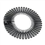 Black Plastic Flexi Comb Zig Zag Sports Headband Hair Band by Other