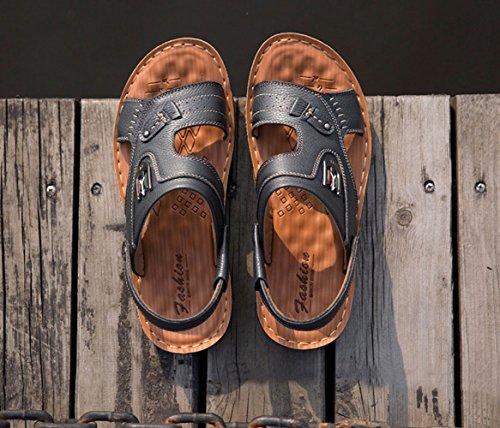 Sandali Casual Moda Pantofole Scarpe Spiaggia da Estate Black Uomini Bagqwr5B