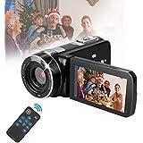 Suntak Digital Video Cameras Recorder Camcorders,Video Camcorder Cameras for Youtube FHD 1080P with IR Night Vision/Remote Control/Support Tripod/Rotation Screen/Video Output