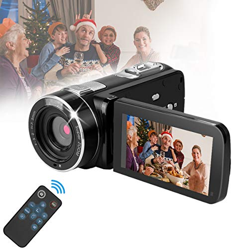 Video Cameras Camcorders for Youtube Videos,Digital Video Camcorder Cameras FHD 1080P with Remote Control/Support Tripod/IR Night Vision/Rotation Screen/TV Video Output