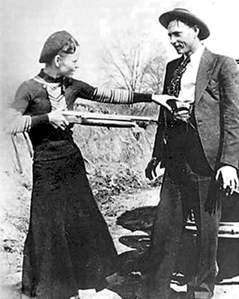 Mob Boss vintage photo reproduction High quality Bonnie Parker /& Clyde Capone