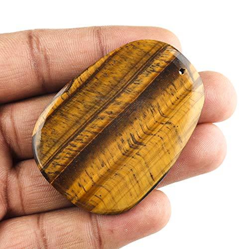 Jaguar Gems – 160 Carats Natural Tiger Eye Palm Stone Gemstone Crystals Drilled Cabochon, DIY Making Jewelry, Lapis Lazuli Gemstone Crystals