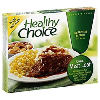 Healthy Choice Classic Meat Loaf Entree 12 Oz Pack Of 3
