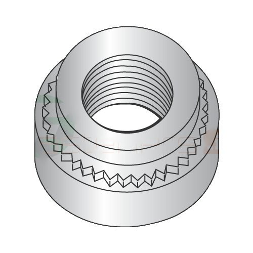 10-24-1 Self Clinching Nuts/303 Stainless Steel/Shank Height: .038''/Sheet Thickness: .040'' (Carton: 5,000 pcs)