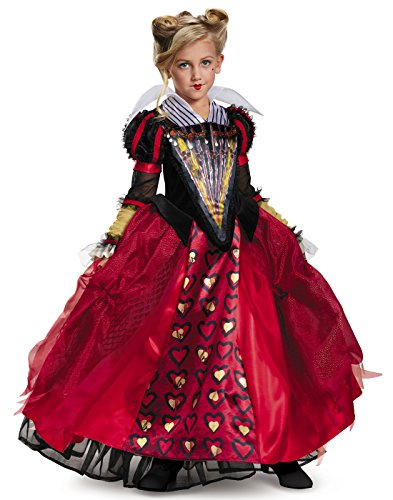 Alice Movie Costumes (Red Queen Deluxe Alice Through The Looking Glass Movie Disney Costume, Medium/7-8)