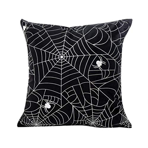 YOcheerful Happy Halloween Pillow Cases Sofa Decor Bed Sofa Decorative (C,Free Size)
