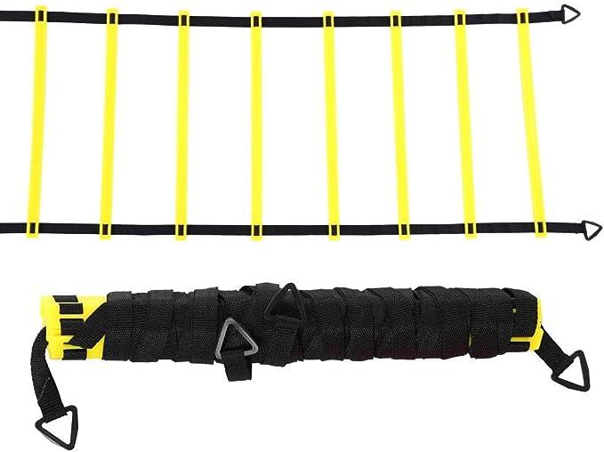 Kit de Entrenamiento de Velocidad Y Agilidad Escalera Plana de 6 M con 5 Conos de Color Deportivo Equipo de Entrenamiento de Fútbol: Amazon.es: Belleza