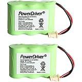 PowerDriver 3.6v 600mAh Cordless Home Phone Battery for Vtech BT-17333 BT17333 BT-27333 BT27333 BT-17233 BT17233 BT-163345 BT-263345 BT163345 BT263345 CS2111 AT&T 01839 24112 4128 89-1332-00-00 89-1338-00-00 EL41108 EL41208 Southwestern Bell 31175 (Pack of 2)