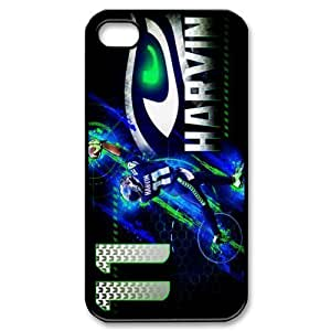 NFL seattle seahawks Print Black Case With Hard Shell Cover for Apple iPhone 4/4S