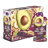 Clearly Crafted, Stage 2 Meals, Organic Baby Food, Purple Carrots, Bananas, Avocados & Quinoa, 4 Ounce (16 Count)