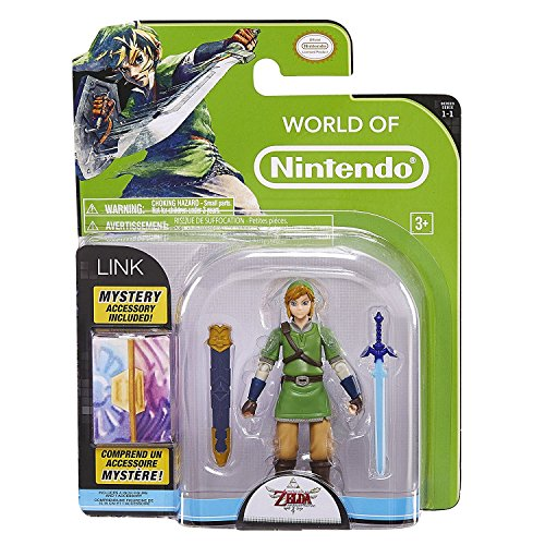World of Nintendo, Legend of Zelda: Skyward Sword Link Action Figure, 4 Inches]()