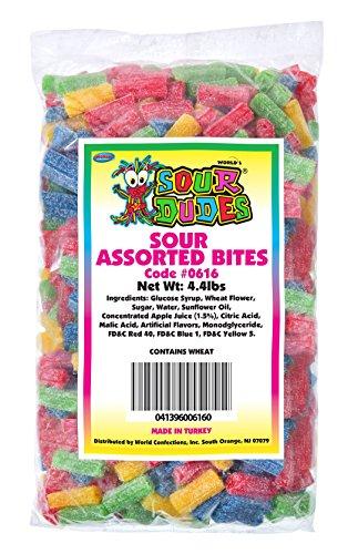 (Sour Dudes Licorice Bites, Assorted Fruit Flavors, 4.4 Pound Bag)