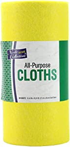 Heavy Duty Reusable Machine Washable Cleaning Cloths, Reusable Paper Towel Cloth, 40 Sheets
