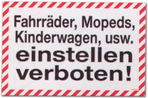 Cartel - carrito bicicletas ciclomotores etc ajustar prohibido ...