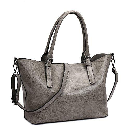 SIFINI Women Handbag Stylish PU Leather shoulder bag Casual Ladies Tote bag Satchel Shopper Bag - Shopper Shoulder Tote
