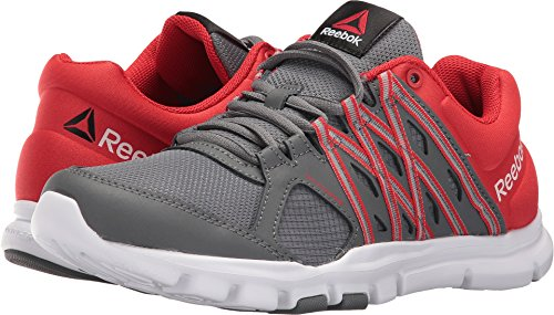 Reebok Men's Yourflex Train 8.0 LMT Running Shoe, Alloy/Riot Red/White, 11 M US