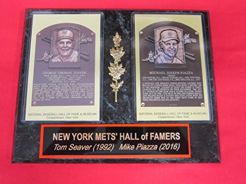 Mike Piazza Tom Seaver Mets Hall of Fame Induction Postcard Plaque NEW DESIGN!!