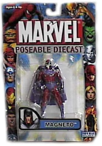 Marvel Poseable Diecast Magneto Figure by Toy (Poseable Diecast Toy)