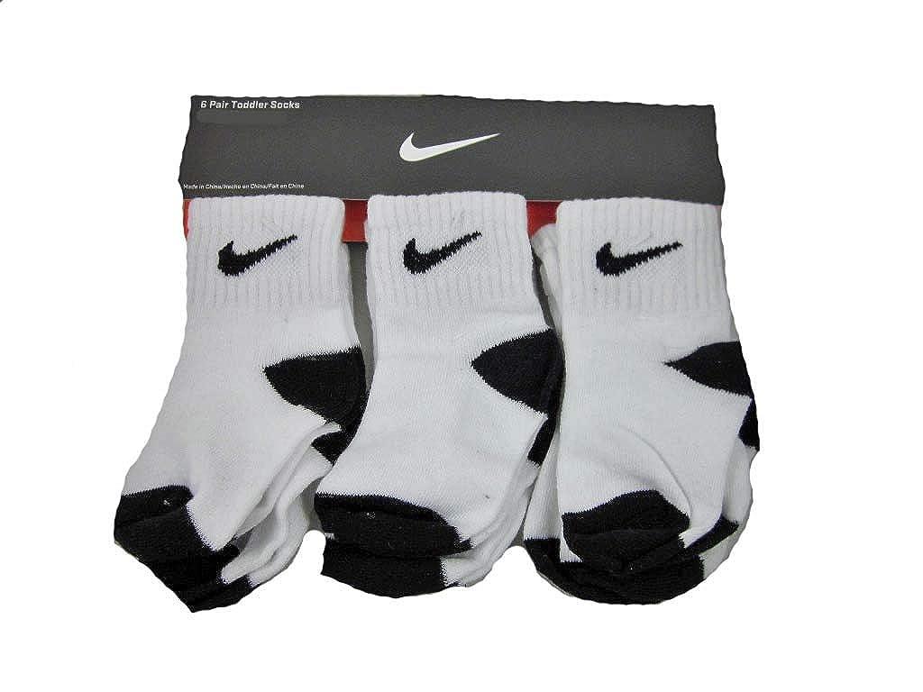 Nike Newborn Baby Socks White//Black 6 Pairs Size 6-12 Months