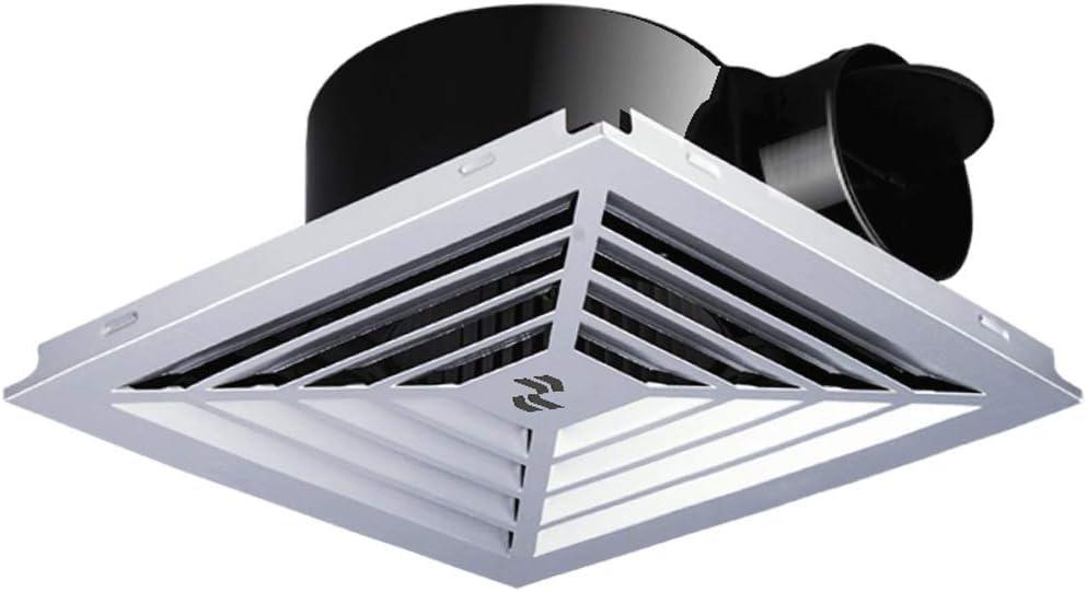 HDZWW Ventilador de ventilación, Blanco del Cuadrado de Techo o de Montaje en Pared Extintor Low extractores de Ruido del Ventilador for Cocina Aseo Baño