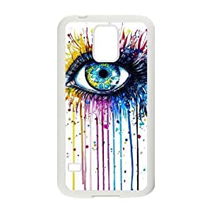 Custom Colorful Case for SamSung Galaxy S5 I9600, Rainbow Eye Cover Case - HL-R638733