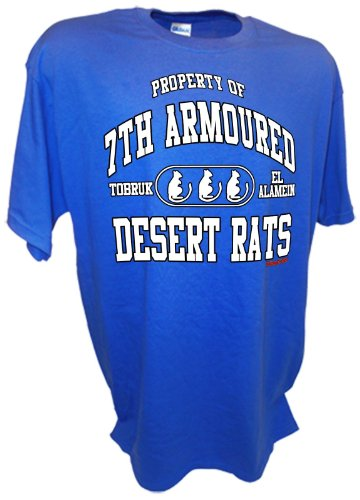 Achtung T Shirt LLC Men's Desert Rats British 7th Amoured Division 8th Army Infanrty Tank North Afrika Korps Combat T Shirt ()