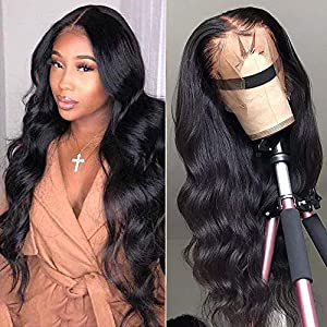 Brazilian Virgin 100% Human Hair Wigs Body Wave Lace Front Human Hair Wigs 150% Density Pre Plucked 9A Body Wave Human…
