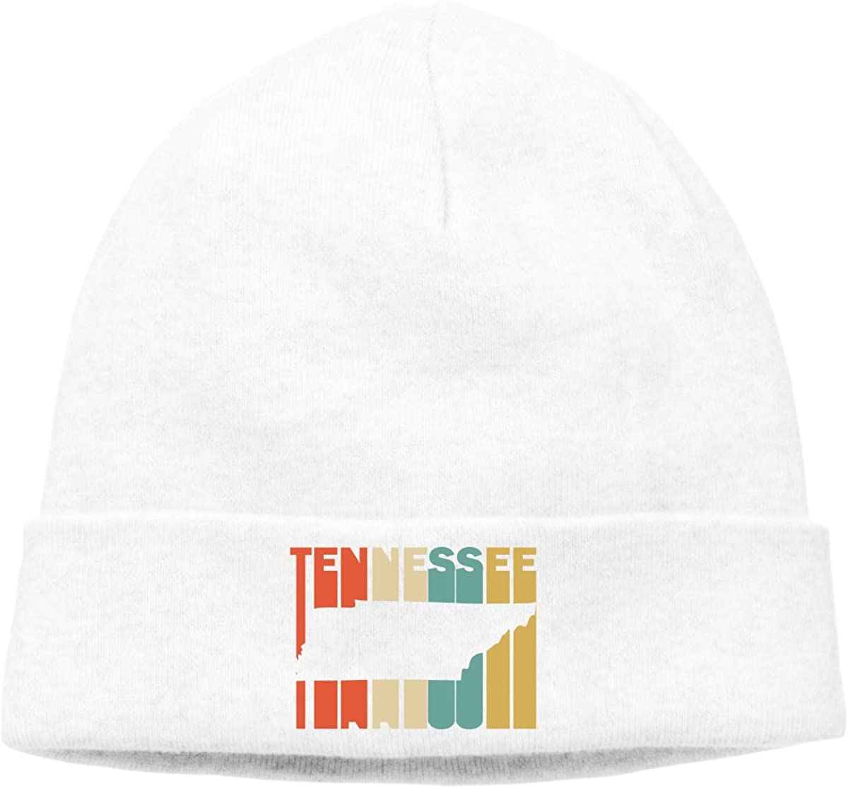 Unisex Knitting Cap Warm Retro Style Tennessee Silhouette Ski Hat for Mens Womens
