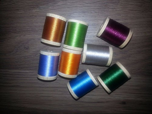 60 spools nylon thread rod building wrapping winding size A & D 100 YARDS SPOOLS very nice selection! ()