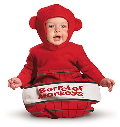 UHC Baby Barrel of Monkeys Board Game Cute Dress Infant Halloween Costume, 0-6M