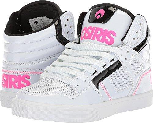 Osiris Women's Clone Skate Shoe, White/Black/Pink, 7 M (Osiris White Shoes)