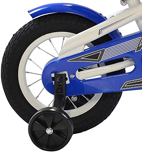 Polaris Edge LX120 Kid s Bike, 12 inch Wheels, 9 inch Frame, Boy s Bike, Black Blue
