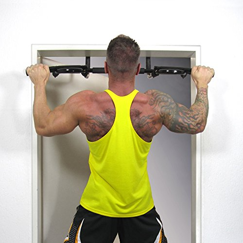 JOM Bar de la porte, un bar pull-up, machine d'exercice pour les cadres de porte, poids 130 kg, incl. Loops