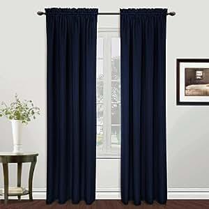 American cortina y cortina de ventana de casa expo por 63 inch azul marino hogar - Cortinas azul marino ...