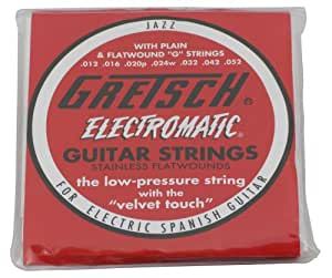 gretsch flat wound guitar strings 12 52 musical instruments. Black Bedroom Furniture Sets. Home Design Ideas