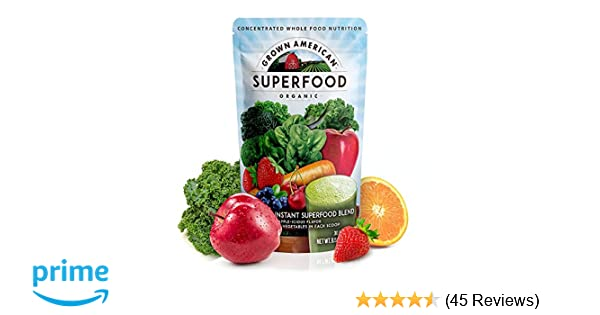 Amazon grown american superfood 31 organic whole fruits and amazon grown american superfood 31 organic whole fruits and vegetables condensed into a single delicious drink concentrated green powder made to forumfinder Image collections