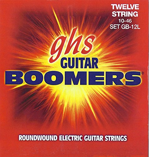 GHS Boomer 12 String Light Electric Guitar Set (10-46) by Ghs