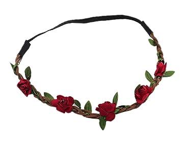 BONAMART 10 x Festival Hippie Geflochten Haarband Blumen Bl/ätter Stirnband f/ür Damen M/ädchen