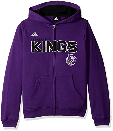 Sacramento Kings Youth Jersey - NBA Youth 8-20 Sacramento Kings Stated Full Zip Hoodie -Black-L(14-16)
