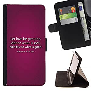 Momo Phone Case / Flip Funda de Cuero Case Cover - BIBLIA Romanos 12: 9 El amor sea genuino; - Apple Iphone 6