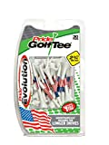 "Pride Golf Tee Evolution Golf Tees (Pack of 30), 2 3/4"", American Flag- Packaging color may vary"