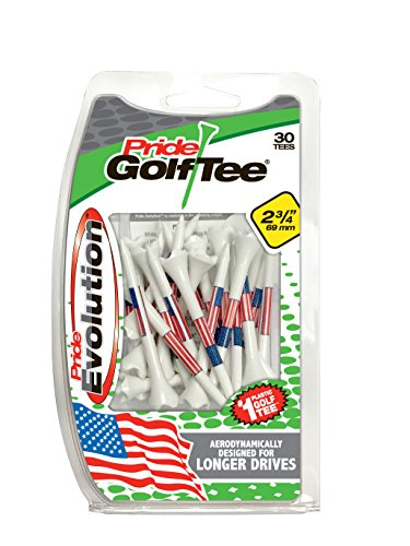 PRIDE GOLF TEE Evolution Golf Tees (Pack of 30), 2 3/4