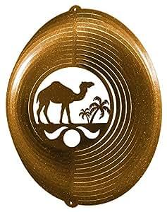 Camello círculo Swirly Metal Wind Spinner