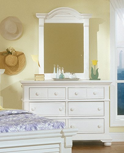 American Woodcrafters Cottage Traditions Double Dresser & Vertical Mirror Combo - Cottage Vertical Mirror