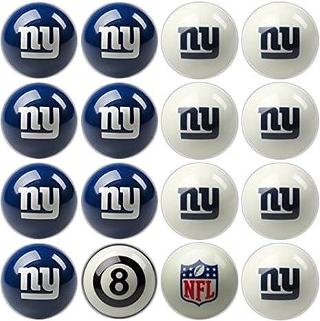 Imperial - Juego de Bolas de Billar y Piscina con Licencia Oficial NFL Home vs. Away Team, 50-1113, New York Giants, Talla única: Amazon.es: Deportes y aire libre