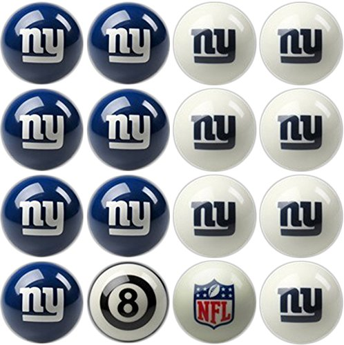 Imperial Officially Licensed NFL Home vs. Away Team Billiard/Pool Balls, Complete 16 Ball Set, New York Giants