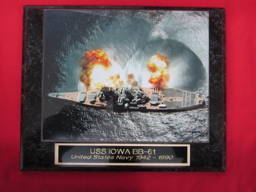 US Navy USS IOWA BB 61 Collector Plaque w/8x10 Photo!