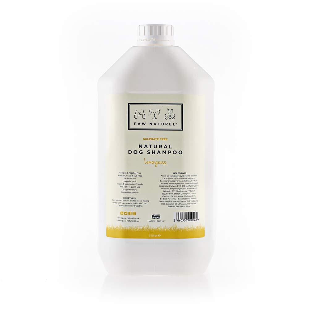Paw Naturel Lemongrass Natural Dog Shampoo 5 Litre