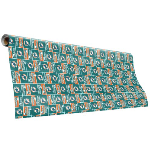 Miami Dolphins Team Wrapping Paper - Nfl Wrapping Paper