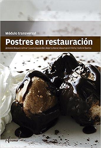 Postres En Restauración Cfgm Cocina Y Gastronomia Amazon